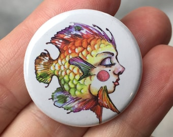 Button.....fish face #1