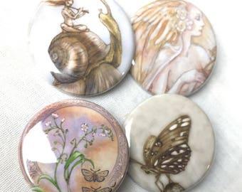 Set of 6 (woodland creatures) pins