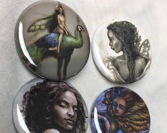 Set of 6 (fairies) pins