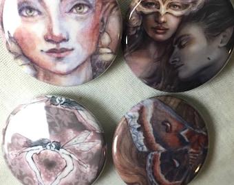 Set of 6 (Romance) pins