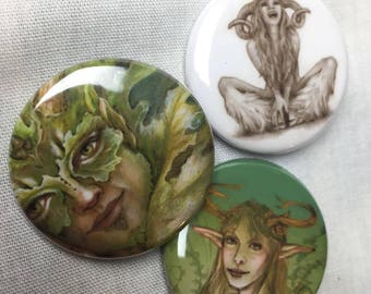 Set of 3 (forest creature) pins