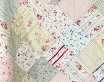 Floral Baby Quilt, Baby Quilt Floral, Quilt Floral Baby, Infant Quilt, Handmade Baby Quilt, Kids Quilt, Crib Quilt, Nap Quilt, Nursery Decor