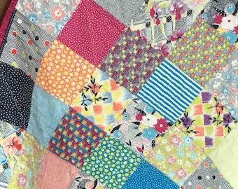 Modern Baby Quilt, Baby Quilt Modern, Quilt Modern Baby, Handmade Baby Quilt, Kids Quilt, Crib Quilt, Nap Quilt, Crib Blanket, Nursery Decor