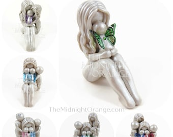 Mother and Children memorial sculpture - personalized gift for mom  by The Midnight Orange - made to order