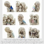 Mother and Children memorial sculpture - personalized love legacy gift by The Midnight Orange - made to order