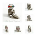New baby add on for existing sculptures - rainbow baby figurine can be made with or without jewel crown - made to order