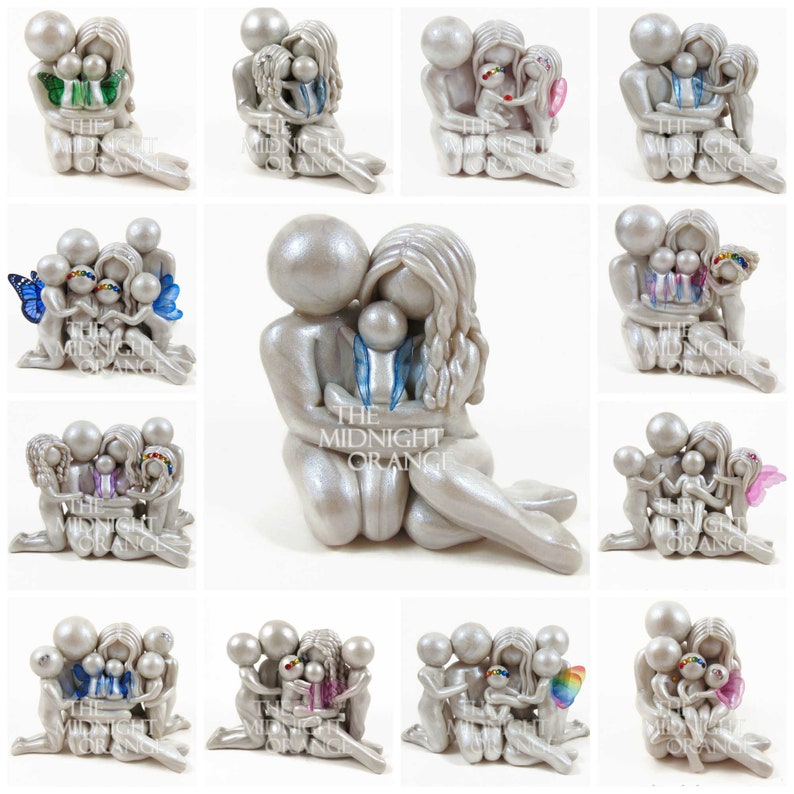 Custom Family Memorial Statue for Pregnancy Infant and Child image 0