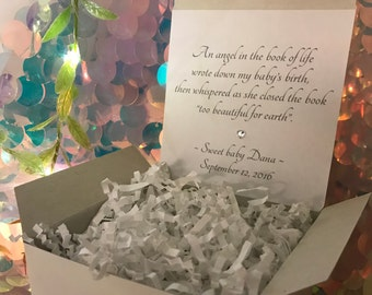 Gift Box Upgrade with choice of quote and name or your own personalized message - custom printed gift box