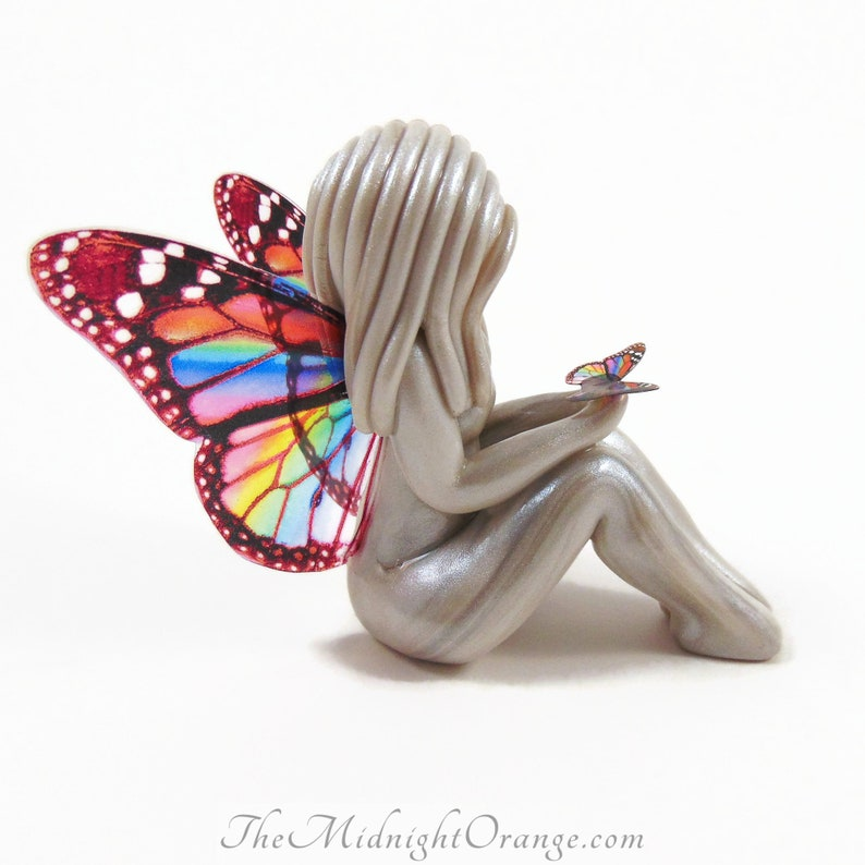 Butterfly Symbol of Comfort  monarch winged lady sculpture  image 0