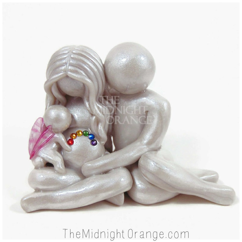 Rainbow Baby Sculpture with angel baby by The Midnight Orange image 0