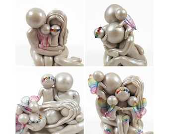 Crystal Rainbow add on - customize your sculpture to symbolize a rainbow baby