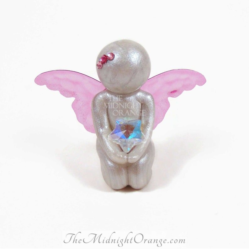 Today I Got to Touch Stars  customized baby angel keepsake by image 0