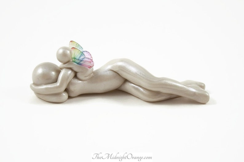 Pregnancy Loss Keepsake  angel sculpture for baby and infant image 0