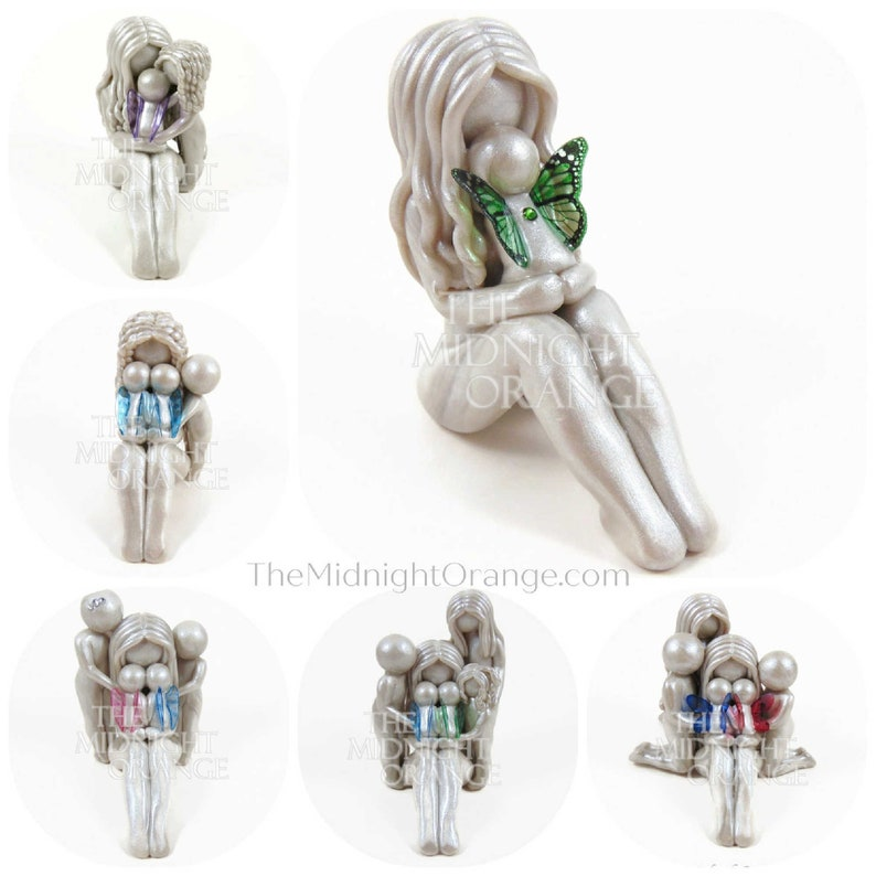 Mother and Children memorial sculpture  personalized gift for image 0