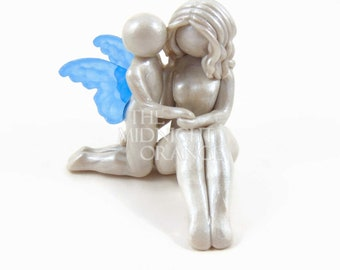 Bereavement Memorial Keepsake for child loss - Mother and Child Angel Sculpture - made to order by The Midnight Orange