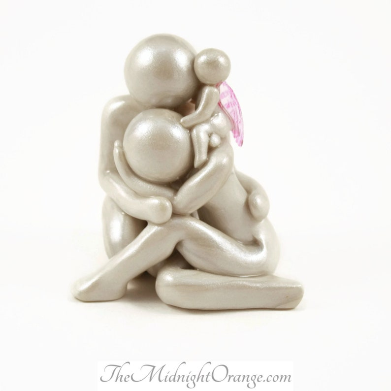 Child Loss Memorial Clay Sculpture  sympathy gift for baby image 0