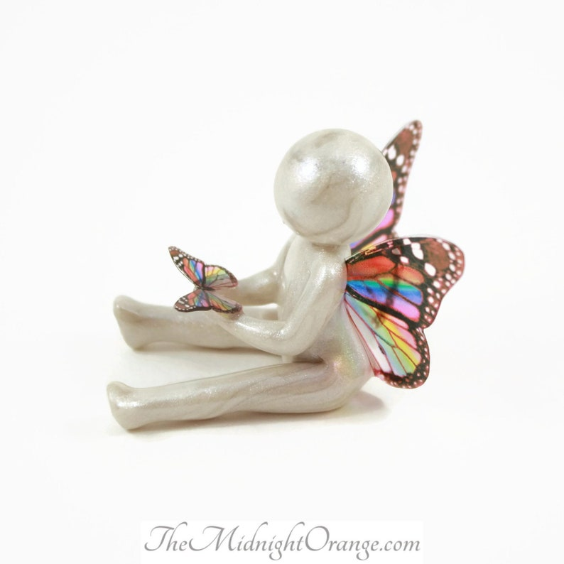 Remembrance Gift for Miscarriage and Child Loss  clay angel image 0