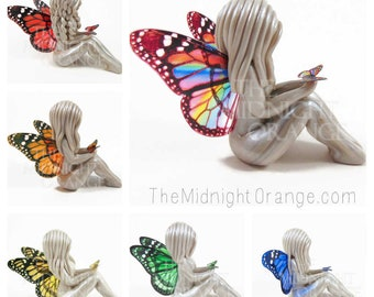 Butterfly Symbol of Comfort - monarch winged lady sculpture - made to order by The Midnight Orange