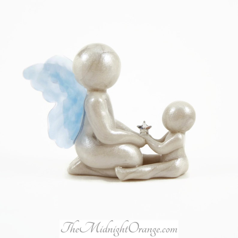 I Have A Sibling In Heaven  angel brother or sister sculpture image 0