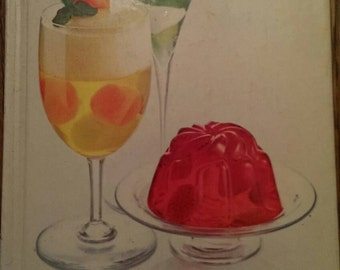 Vintage 1975 Hard-cover The New Joys of Jello Recipe Cookbook