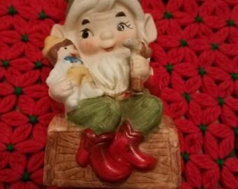 Vintage Homco Toymaker Elf