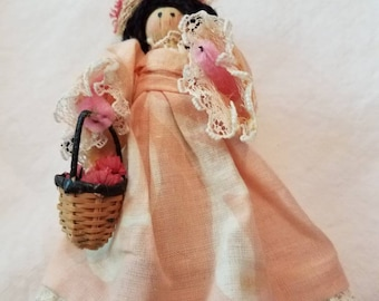 Adorable Vintage Clothespin Doll from Hawaii