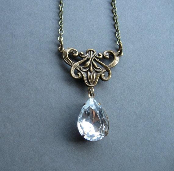Mid Century Pendant BS1 Tear Drop Pendant Vintage Pendant Teardrop Pendant Gold Pendant Gift For Her Orange Pendant