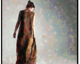 Modern Painting Portrait Woman Portrait Contemporary Art Minimalist Art  Modern Art Prints, Fine Art Giclee Prints, Wall Office Home  Art