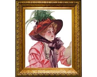 vintage woman print, victorian woman wall art, grandmillennial print, cottage decor print, vintage lady printable,  #156, DIGITAL DOWNLOAD