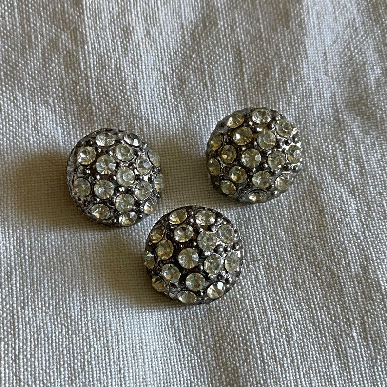 Assortment of eight vintage rhinestone buttons