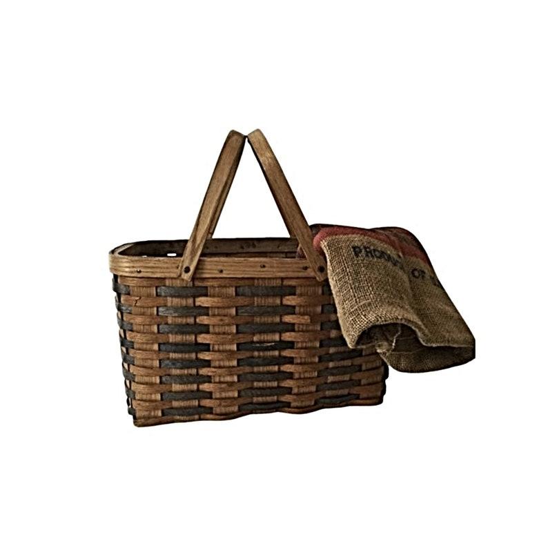 vintage Franklin Cane Sugar split oak woven basket image 0