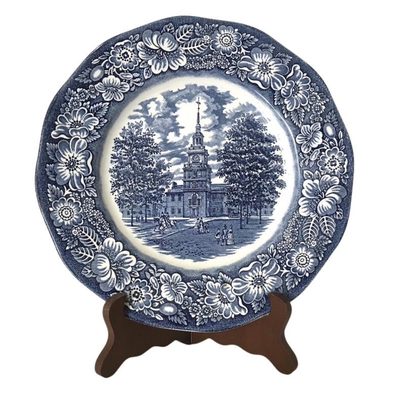 Royal Staffordshire Liberty Blue Dinner Plate Made in England image 0