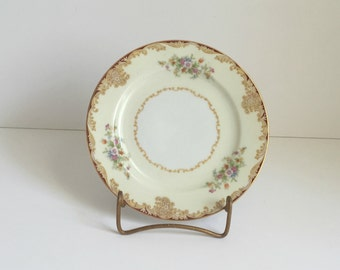 three vintage Noritake Mystery bread and butter plates Japan