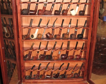 Pipe rack cabinet Pipe Cabinet Rack Case 32 Pipe Rack Cabinet Display,Churchwarden,Item 400