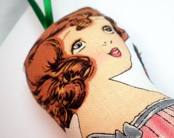 Paper Doll Ornament - Vintage Inspired - Anne - FREE SHIPPING