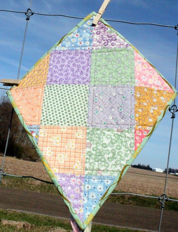 quilted wall art let s go fly a kite checkerboard of etsy