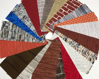 Dresden Neighborhood Architectural House Fabric Construction Packs - FREE SHIPPING