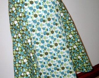 Geometric Dots Gored Skirt W28