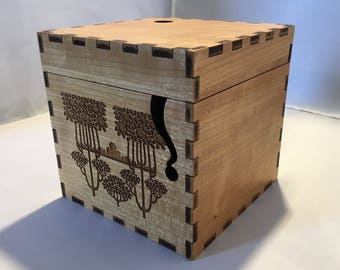 Cherry Lidded Yarn Box