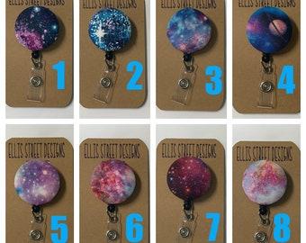 Galaxy Space Nebula - Retractable ID Badge Holder