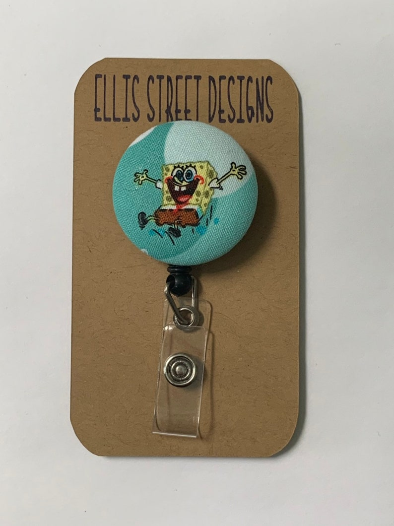 Spongebob Nickelodeon Retractable ID Badge Holder