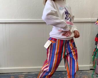 844e224a9e Vintage Guess 80s Girls Striped Jeans Sz 7