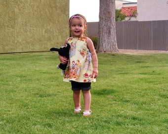 SALE Happy Birthday Yellow Sleeveless Jumper Toddler Dress 2T