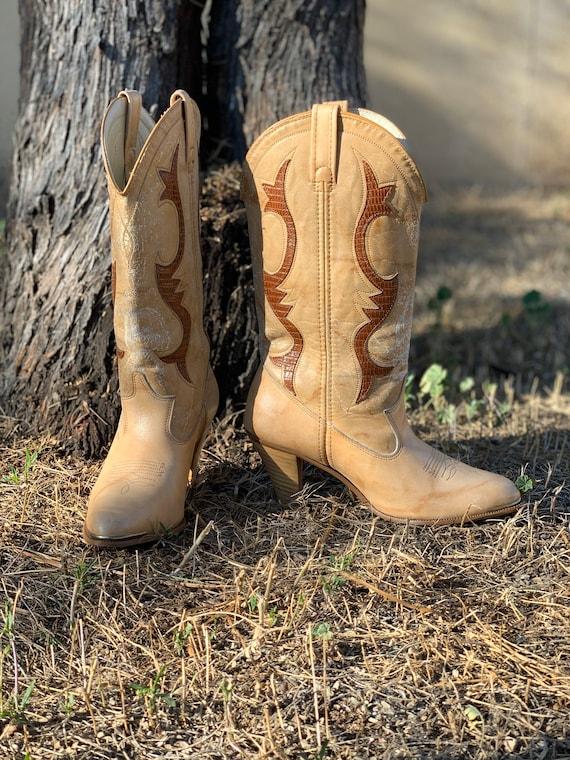 Vintage Dingo Western Cowboy Boots Sz 7.5