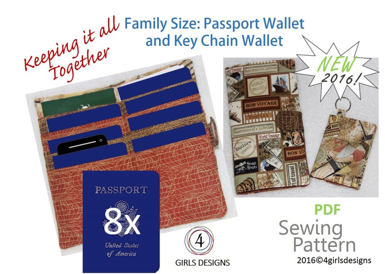 New Instant Download Sewing Pattern Family Size Passport   Etsy