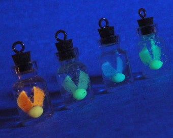 Glow in the Dark - Firefly in a Jar Charm Necklace