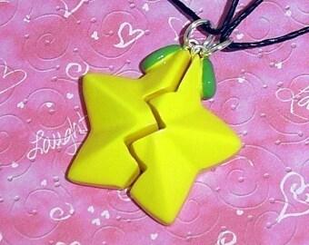 Kingdom Hearts - Paopu Fruit Friendship Necklace Set
