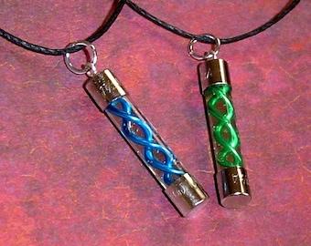 Resident Evil - T-Virus and Anit-Virus Friendship Necklace Set