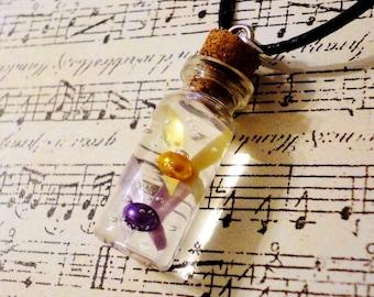 Legend of Zelda - Majora's Mask - Tatl and Tael Fairy Bottle Necklace