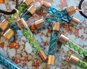 Resident Evil - T-Virus or Anti-Virus Necklace - Choose Blue or Green - SALE